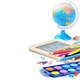 Colorful school supplies Royalty Free Stock Images