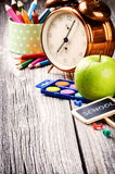 Colorful school supplies Royalty Free Stock Photography