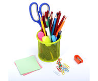 Colorful School Supplies Stationery & notepad Royalty Free Stock Photo