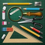 Colorful school supplies Royalty Free Stock Photo