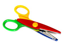 Colorful Scissor. Isolated on White Background Stock Photography