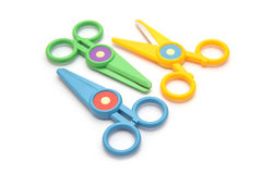 Colorful of scissor on white background Royalty Free Stock Photos
