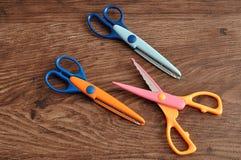 Colorful scissors Stock Image