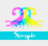 Colorful Scorpions Shapes Stock Image