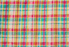 Colorful scot fabric Stock Photos