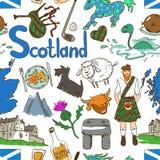 Colorful Scotland Seamless Pattern. Royalty Free Stock Photo