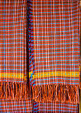 Colorful scott and line fabric texture Stock Photography