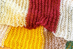 Colorful scraf of wool as a bckground Stock Photo