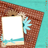 Colorful scrapbook background Stock Photography