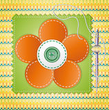 Colorful scrapbook with flower. Royalty Free Stock Photo