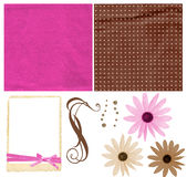 Colorful scrapbook kit Stock Photo