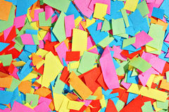 Colorful scraps Stock Image