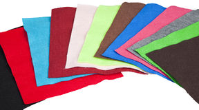 Colorful Scraps of Felt Fabric Stock Image