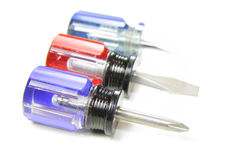 Colorful screw drivers Stock Image
