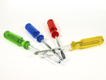 Colorful screwdrivers Stock Images