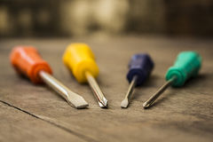 Colorful screwdrivers Royalty Free Stock Photo
