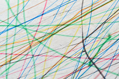 Colorful scribble background. Scribble drawing with colorful lines suitable for background Royalty Free Stock Photos