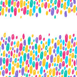 Colorful scribble doodle dots background. Royalty Free Stock Photos