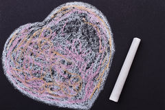 Colorful scribbled heart. Royalty Free Stock Photography