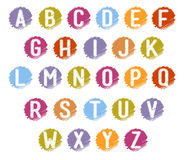 Colorful Scrible Alphabets Royalty Free Stock Photography