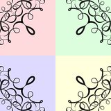 Colorful Scroll Frame Background Royalty Free Stock Images