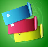 Colorful scroll ribbons infographic design Royalty Free Stock Image