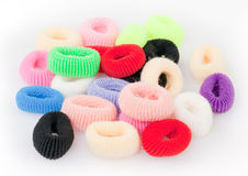 Colorful scrunchies Stock Photo