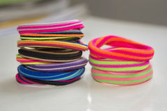 Colorful scrunchy Stock Images
