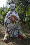 The colorful sculptures of the Tarots garden. One of the colorful sculptures of the Tarots garden Stock Images