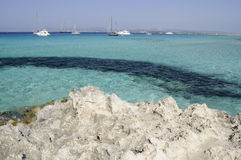 Colorful sea of Formentera Stock Photo