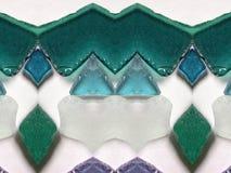 Colorful sea glass abstract stock image