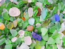 Colorful sea glass pattern Royalty Free Stock Images