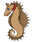 Colorful sea horse on the white background Stock Photo