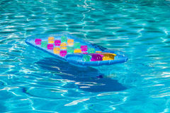 Colorful Sea Mattress in pool Royalty Free Stock Photos