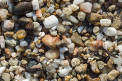 Colorful sea pebbles Stock Image