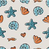 Colorful sea seamless pattern. Illustration in vector stock images