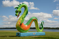 Colorful Sea Serpent Sculpture In Minnesota Royalty Free Stock Photo