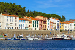 Colorful seafront houses Stock Image