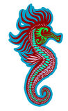 Colorful seahorse Stock Photo