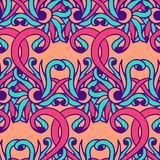 Colorful seamless abstract hand-drawn pattern, floral abstract vector background Royalty Free Stock Photo