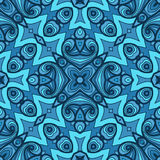 Colorful seamless abstract hand-drawn pattern Stock Images