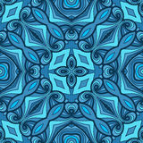 Colorful seamless abstract hand-drawn pattern Royalty Free Stock Images