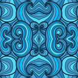 Colorful seamless abstract hand-drawn pattern Stock Photos