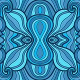 Colorful seamless abstract hand-drawn pattern Stock Image