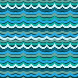Colorful seamless abstract hand-drawn pattern Royalty Free Stock Photo