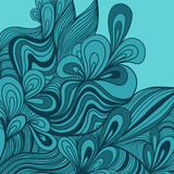 Colorful seamless abstract hand-drawn pattern, waves background Royalty Free Stock Image