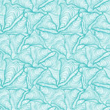 Colorful seamless abstract hand-drawn pattern, waves background Stock Photography