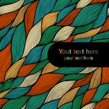 Colorful seamless abstract hand-drawn pattern, waves background Royalty Free Stock Photos