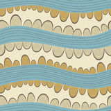Colorful seamless abstract pattern, with horizontal waves Royalty Free Stock Photography