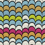 Colorful seamless abstract pattern, waves background Stock Photos